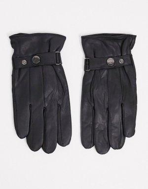Черные кожаные перчатки для сенсорных гаджетов Barneys Original-Черный Originals
