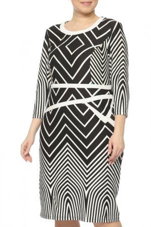 Платье CREDO. Цвет: черный, белый
