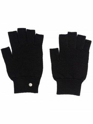 Перчатки в рубчик Rick Owens. Цвет: черный