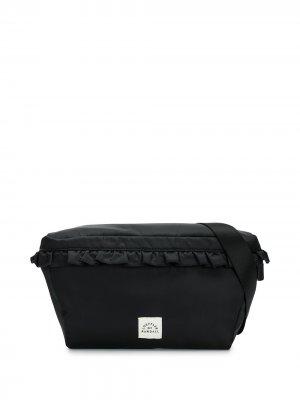 Поясная сумка с оборками Loeffler Randall. Цвет: черный