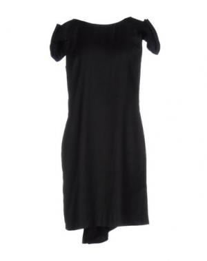 Короткое платье ALBINO. Цвет: стальной серый