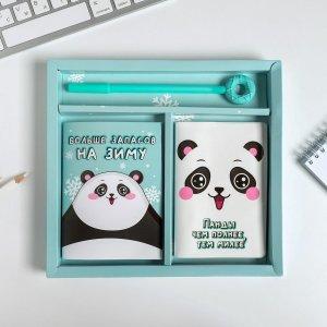 Набор обложка для паспорта полноцвет, блокнот прикол и ручка ArtFox
