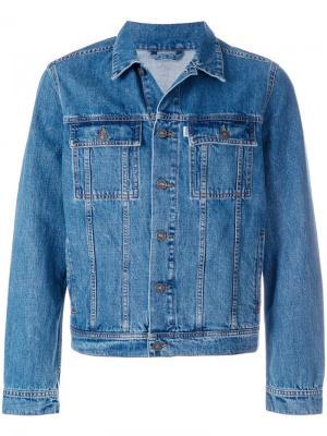Джинсовая куртка с вышитым тигром Kenzo. Цвет: синий