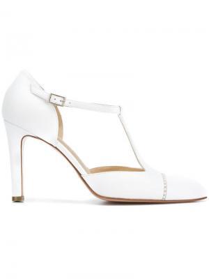 Туфли-лодочки с заостренным носком Antonio Barbato. Цвет: белый