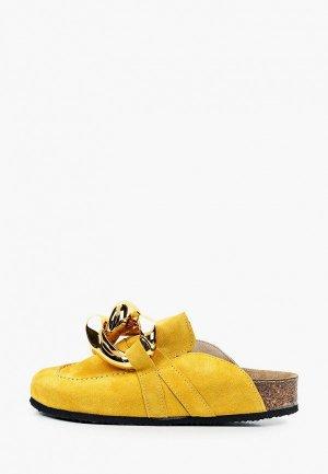 Мюли Grand Style. Цвет: желтый