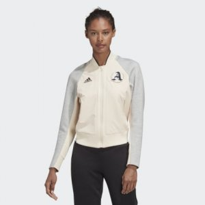 Куртка-бомбер VRCT Athletics adidas. Цвет: серый