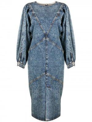 Джинсовое платье без рукавов Isabel Marant. Цвет: синий
