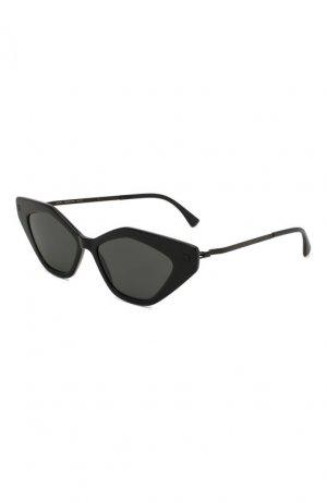 Солнцезащитные очки Mykita. Цвет: чёрный