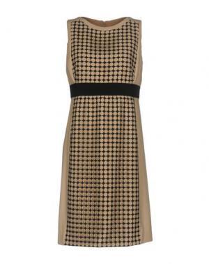 Короткое платье AKRIS PUNTO. Цвет: песочный