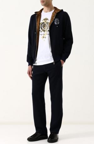 Спортивный костюм из смеси шерсти и хлопка Billionaire. Цвет: темно-синий