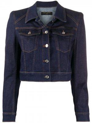 Укороченная джинсовая куртка Dolce & Gabbana. Цвет: синий