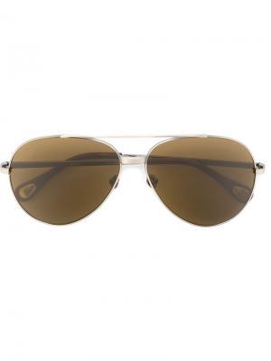 Солнцезащитные очки Linda Farrow × Ann Demeulemeester. Цвет: металлик