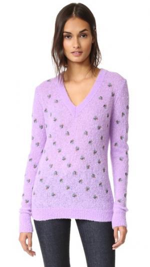 Трикотажный пуловер с длинными рукавами Nina Ricci. Цвет: светло-сиреневый