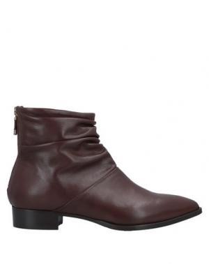 Полусапоги и высокие ботинки ALBERTO FERMANI. Цвет: какао