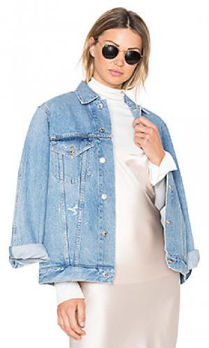 Джинсовая куртка jessie AGOLDE. Цвет: none