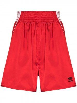 Шорты из коллаборации с Dry Clean Only adidas. Цвет: красный