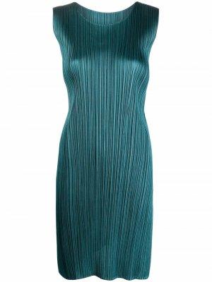 Плиссированное платье-трапеция Pleats Please Issey Miyake. Цвет: зеленый