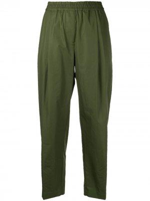 Укороченные брюки с эластичным поясом Aspesi. Цвет: зеленый
