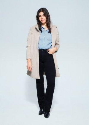 Рубашка из денима с карманами - Estrella Mango. Цвет: синий средний