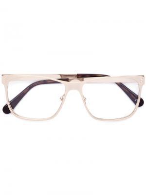Очки в квадратной оправе Stella Mccartney Eyewear. Цвет: металлический