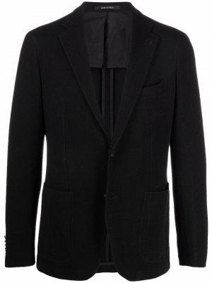 Однобортный пиджак Tagliatore. Цвет: черный