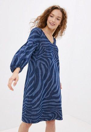 Платье джинсовое Sandwich. Цвет: синий