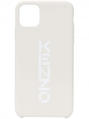 Чехол для iPhone 11 Pro Max с логотипом Kenzo. Цвет: белый