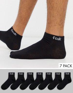 7 пар черных спортивных носков -Черный French Connection