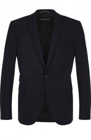 Однобортный шерстяной пиджак Drykorn. Цвет: синий