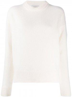 Ribbed-knit trim jumper Laneus. Цвет: белый