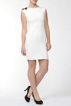 Платье Bovona. Цвет: бежевый