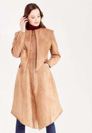 Пальто Sahera Rahmani. Цвет: бежевый