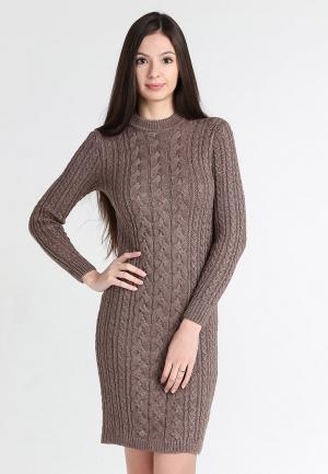 Платье Sava Mari. Цвет: коричневый