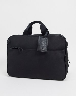 Черная нейлоновая сумка для ноутбука -Черный Ted Baker