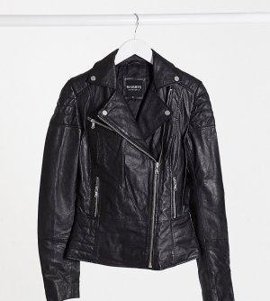 Кожаная куртка Barneys Originals Tall Clara-Черный цвет Barney s Original