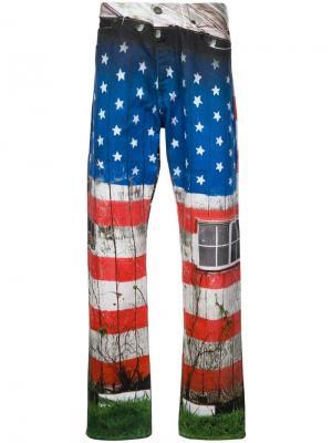 Джинсы с принтом Calvin Klein Jeans Est. 1978. Цвет: синий