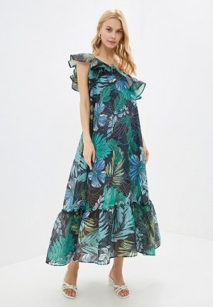 Платье Elena Andriadi. Цвет: синий