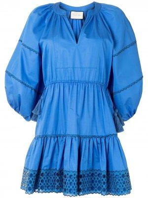 Расклешенное платье мини Daksha Alexis. Цвет: синий