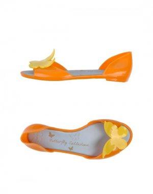 Балетки BUTTERFLY. Цвет: оранжевый