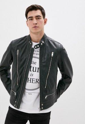Куртка кожаная Diesel. Цвет: зеленый