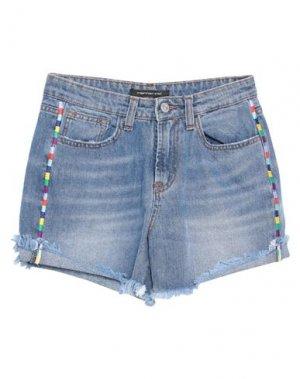 Джинсовые шорты FORNARINA. Цвет: синий