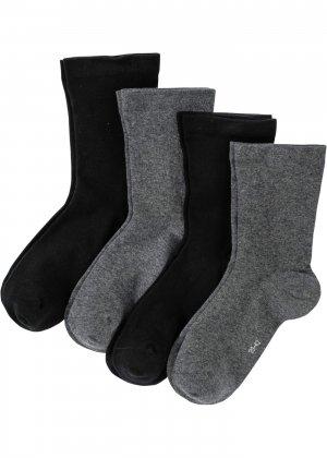 Носки с мягкими резиночками (4 пары) bonprix. Цвет: черный