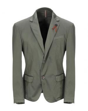 Пиджак ITALIANS GENTLEMEN. Цвет: зеленый-милитари