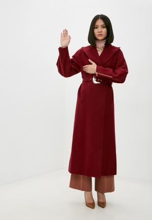 Пальто Just Cavalli. Цвет: бордовый