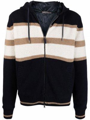Полосатая куртка с капюшоном Herno. Цвет: синий