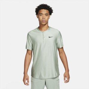 Мужская теннисная рубашка-поло Court Dri-FIT Advantage - Зеленый Nike
