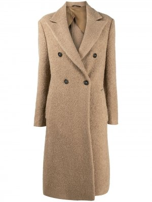 Двубортное пальто Dondup. Цвет: нейтральные цвета