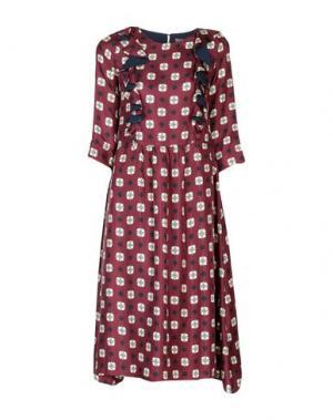 Платье длиной 3/4 BEATRICE B. Цвет: баклажанный