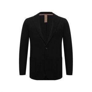Шерстяной пиджак Eleventy. Цвет: чёрный