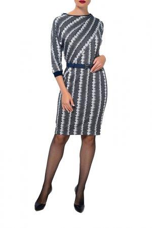 Платье Caterina Leman. Цвет: белый, темно-синий (01/15)
